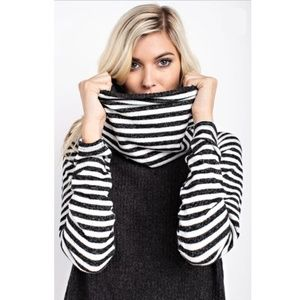 Contrast Knit Top